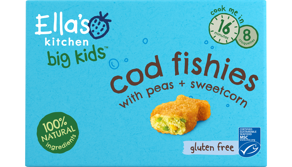 Ellas kitchen cod fishies frozen Front of pack O 2