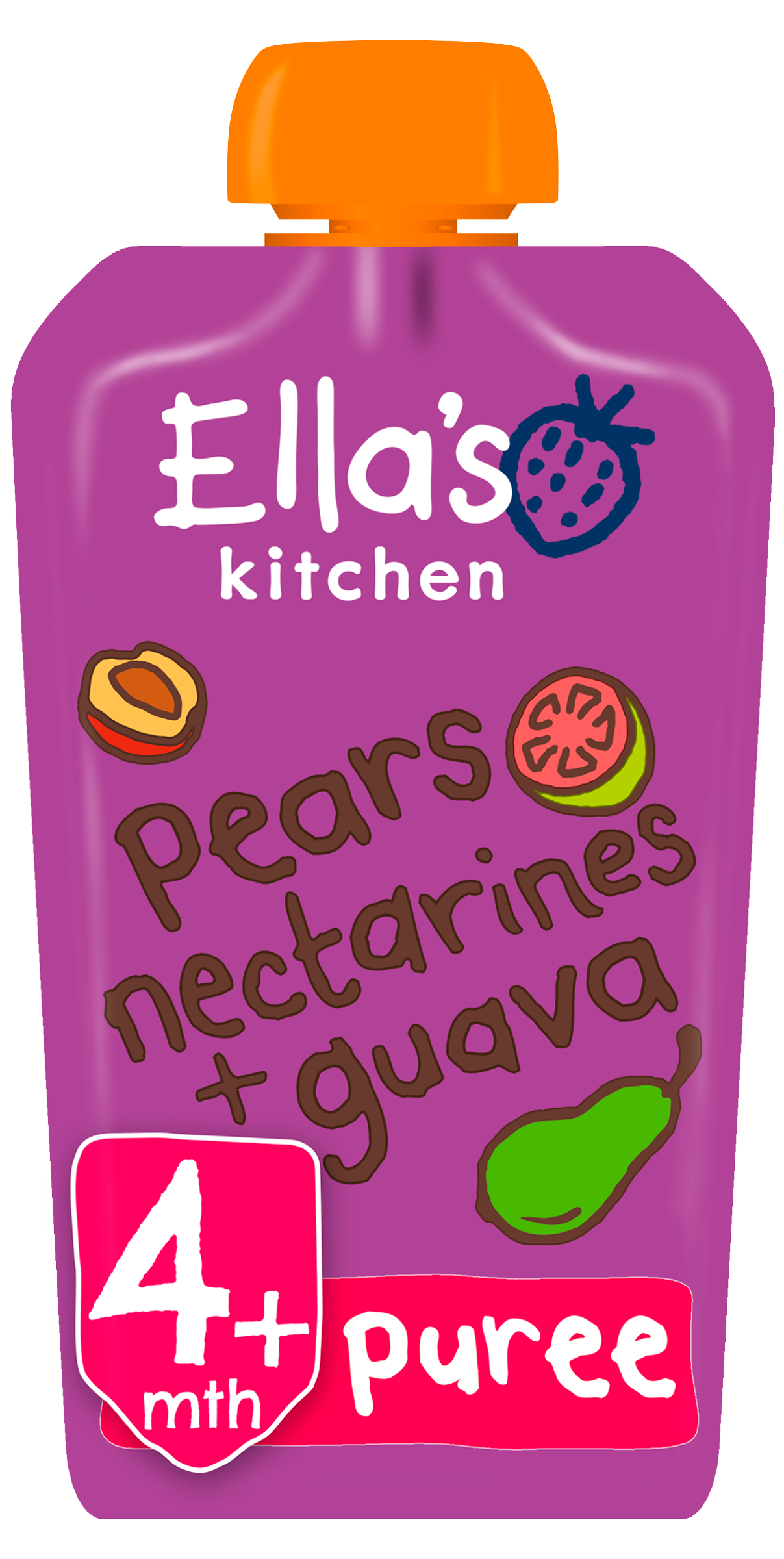 Ellas kitchen pears nectarines guava pouch front of pack O